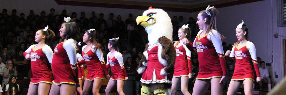 Estancia cheer performs at pep assembly