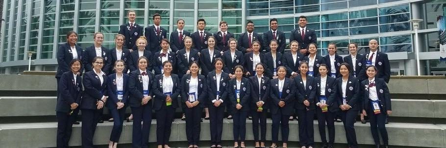 Estancia students attending the HOSA State Leadership Conference in Anaheim