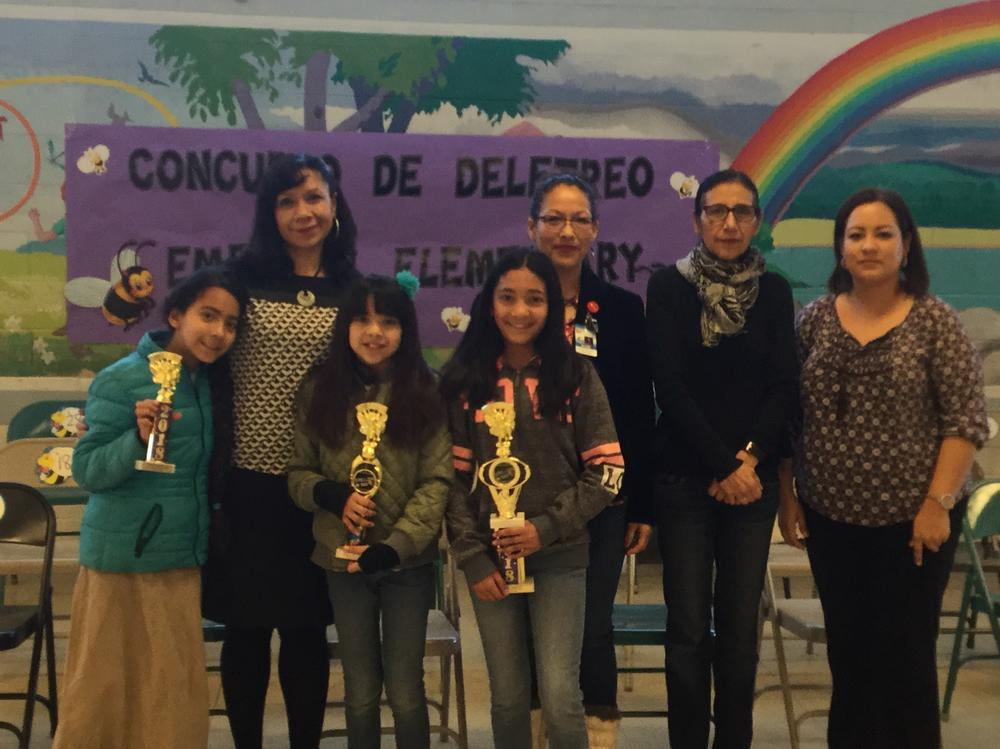 Spelling Bee Winners from 5th Grade Mrs. Salazar and Mrs. Gamboa s ClassesS