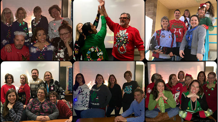 Eisenhower Staff Holiday Photo
