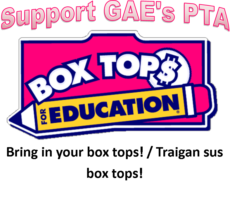 Support Garfield Elementary s PTA Box Tops Logo