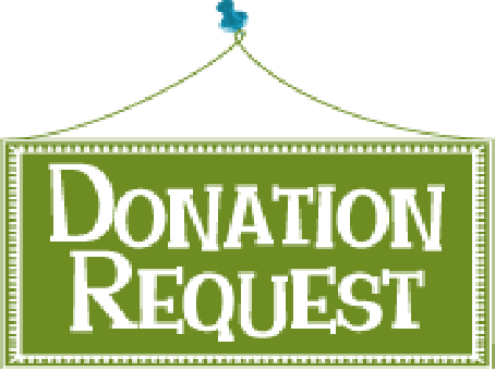Donation request banner clip art