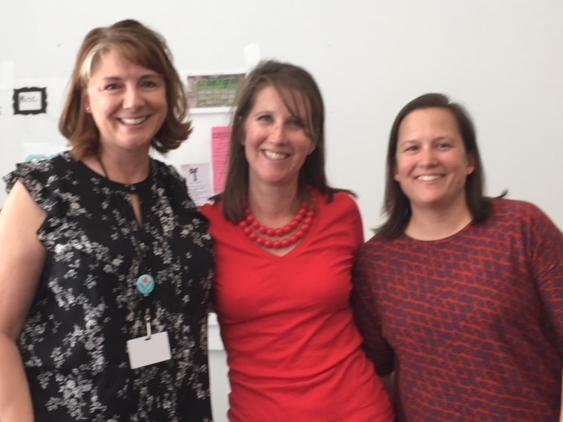 Misty Witterholt l PTA Volunteer of the Year with Courtney Jackson, PTA  President and Jessica Owen, Principal r
