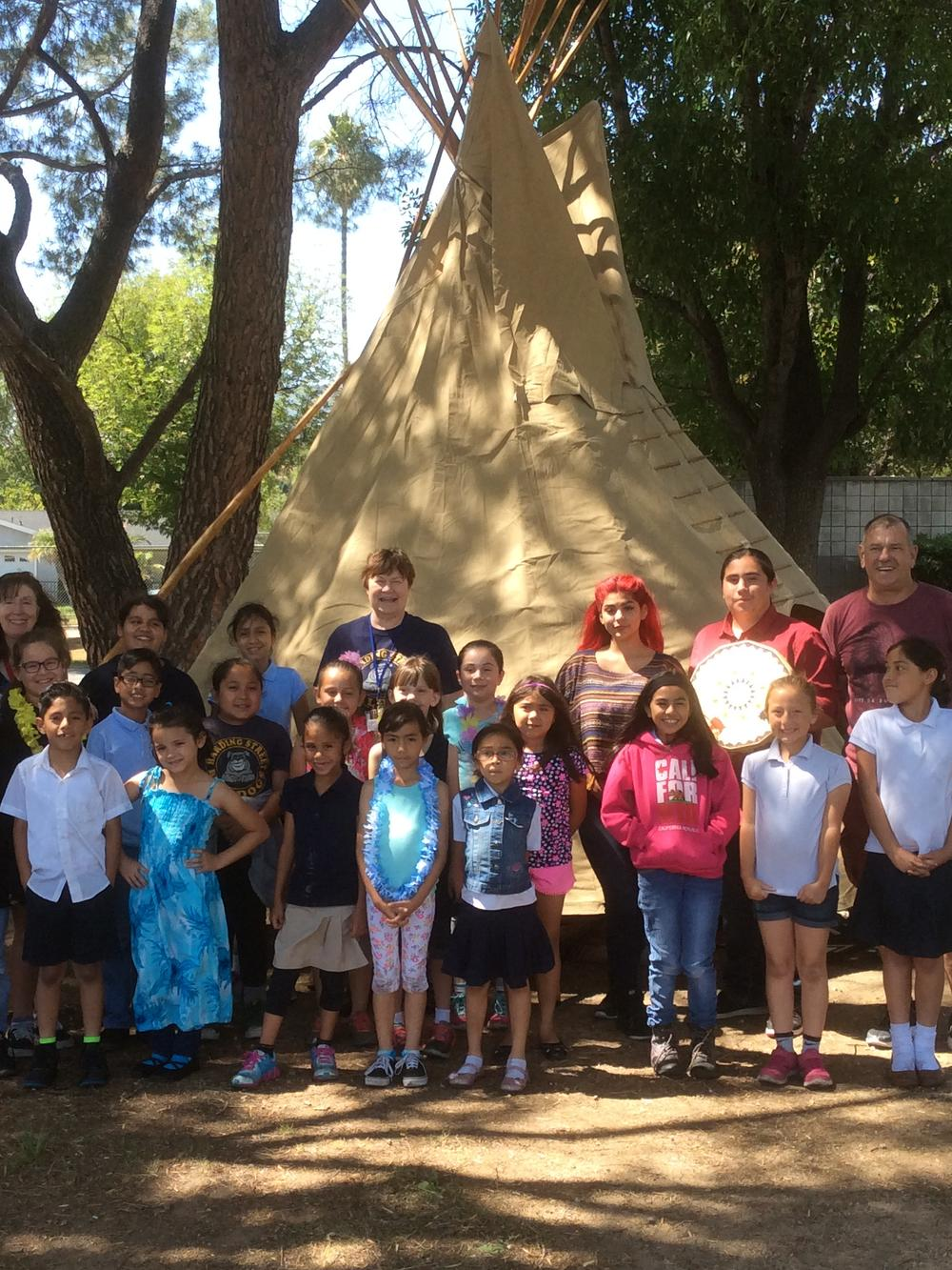 group and tipi