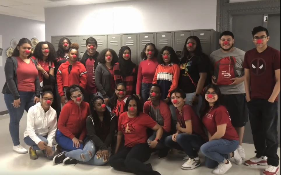 HARP Students and Staff wear Red to raise dollars to fight childhood hunger