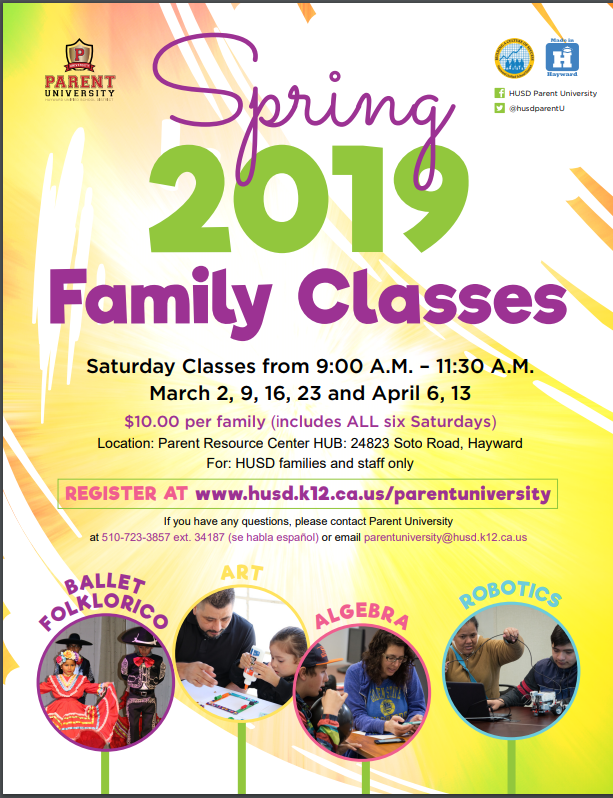 2019 Spring Family Classes English