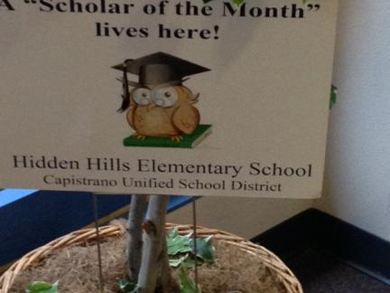 Scholar of the Month Awards
