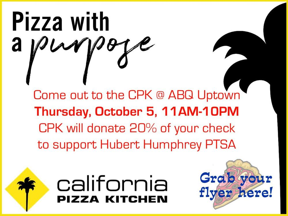 Hawks Night Out, California Pizza Kitchen at ABQ Uptown on Thursday, October 5  from 11 00AM-10 00PM. Click the picture to get your flyer.