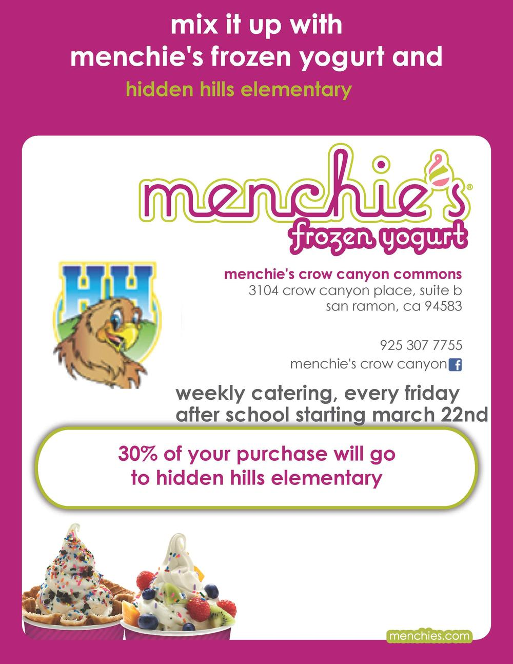 Menchie s Frozen Yogurt Information