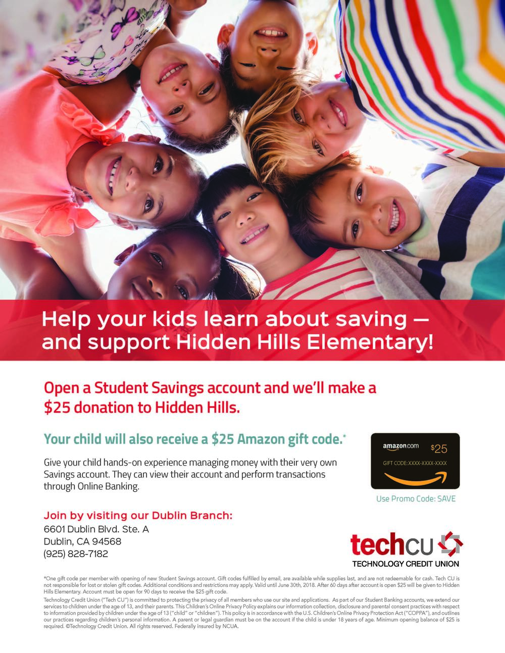 TechCU Flyer on Student Account