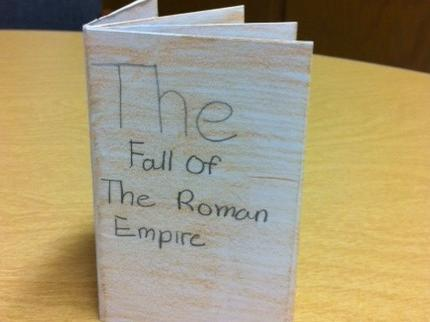 Student Writing on Fall of Rome