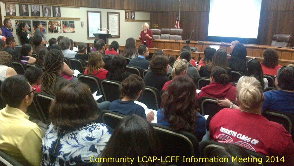 District LCAP-LCFF information meeting attendees on 2-20-2014