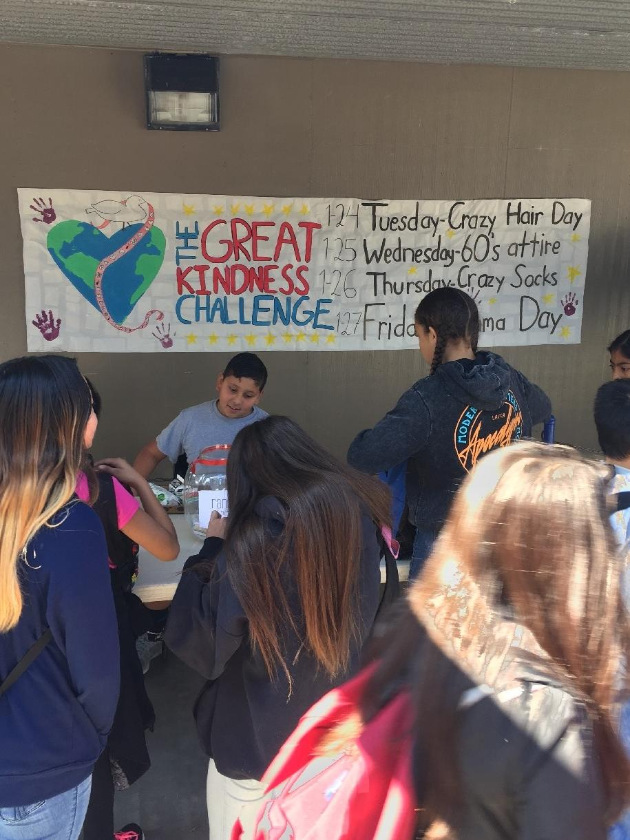 HMS Students were challenged to a week of Kindness.