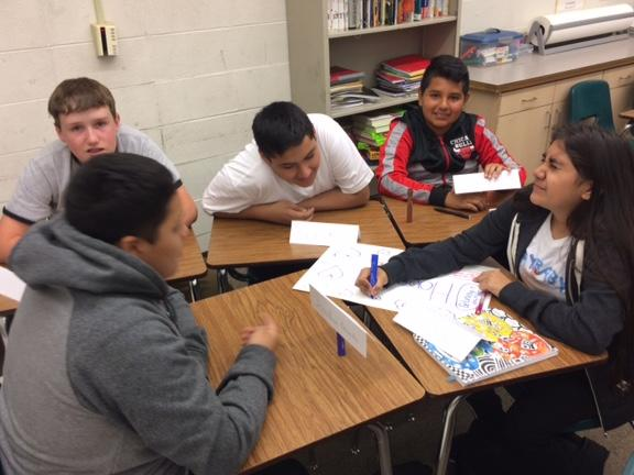 8th graders investigating the IB Community Project IMG 1161  1