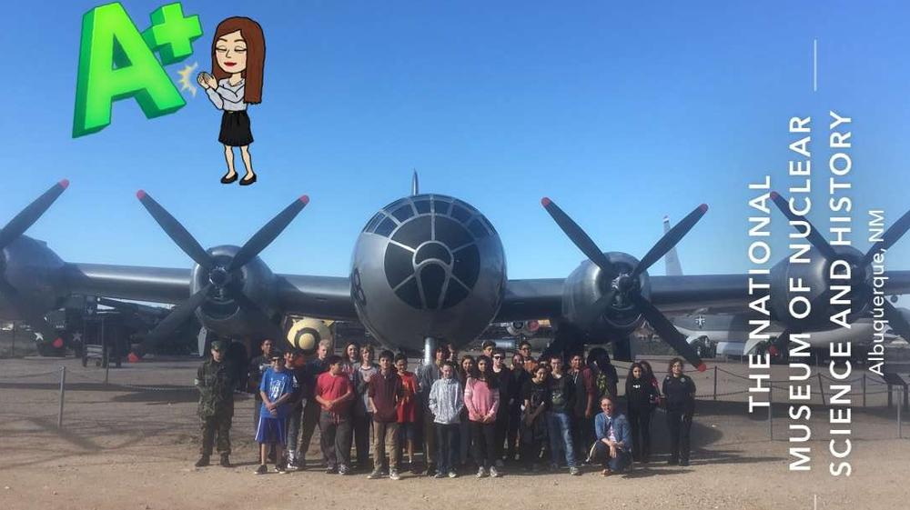 Hoover 8th grade students attend a field trip at The National Museum of Nuclear  Science and History