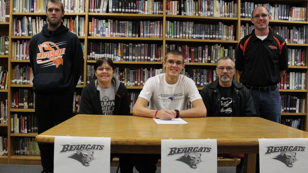 Dustin Shoemaker, Humansville Sneior, signed to run track and cross country  with Southwest Baptist University in Bolivar, MO