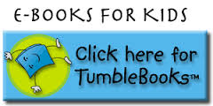 A link for TumbleBooks website with a book tumbling