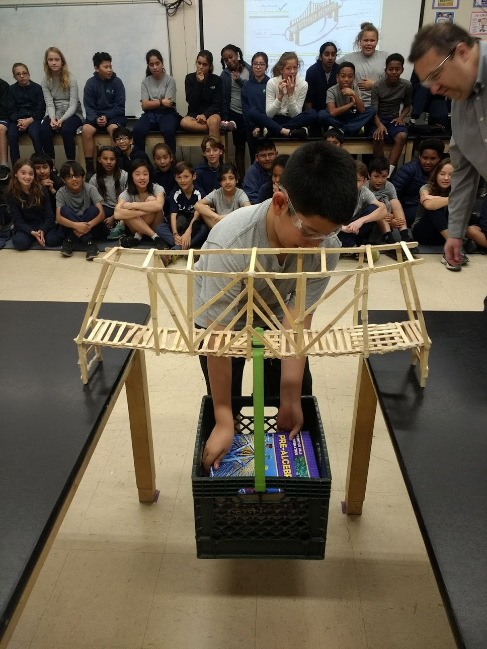 Design class tests popsicle bridge strength