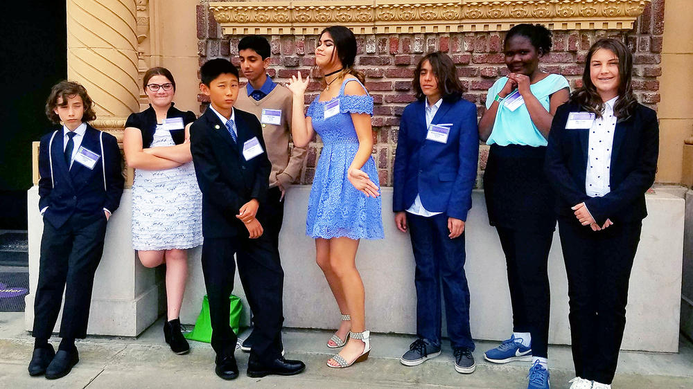 ISM s 2017 State Science Fair qualifiers hanging out in front of the California  Science Center in LA