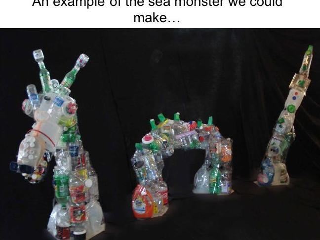 Remember to Bring in your bottles - This is made out of PVC Pipe and all kinds of recycled materials.