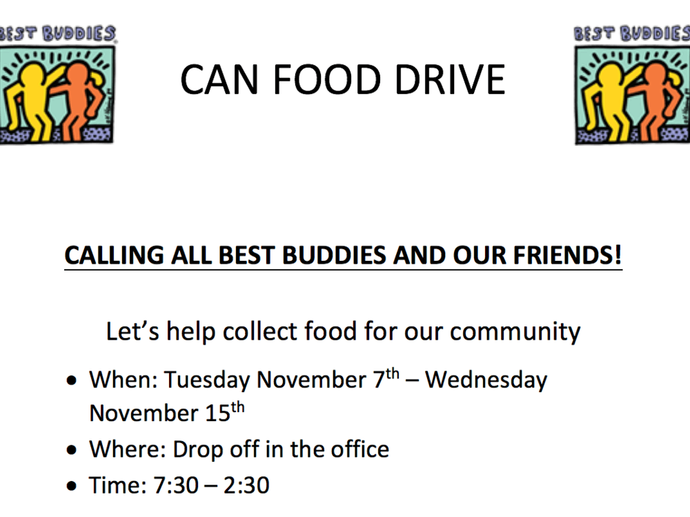 Best Buddies Canned Food Drive