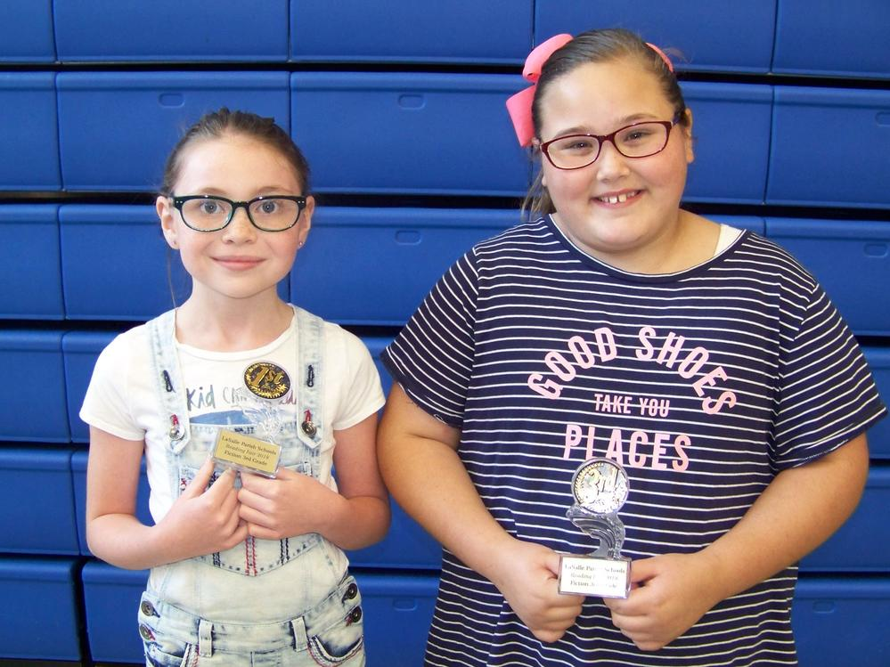3rd Grade Fiction-Rylee Horton 1st, Rylee Master 2nd not pictured , Natalie  Taylor 3rd