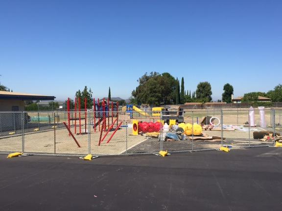 Our new playground is coming along.....