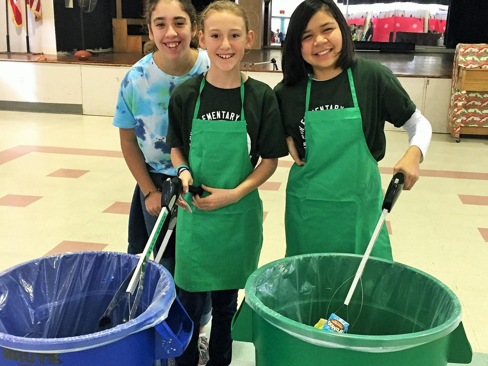 The Green Team is doing their part to promote responsible care of waste.