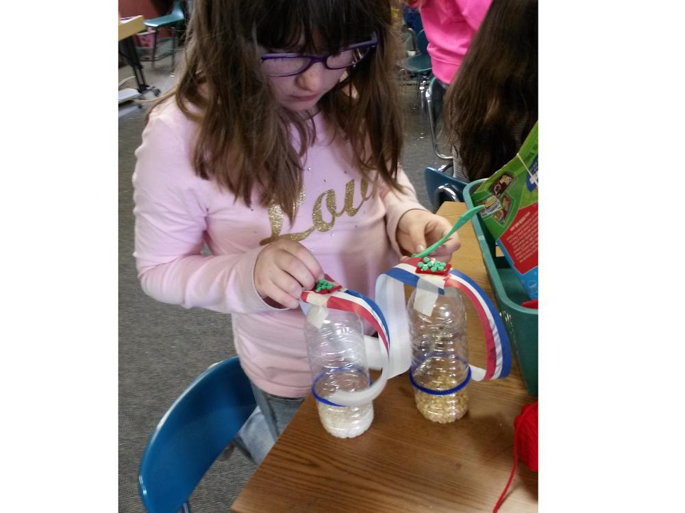 Experimenting with building from recycled materials.