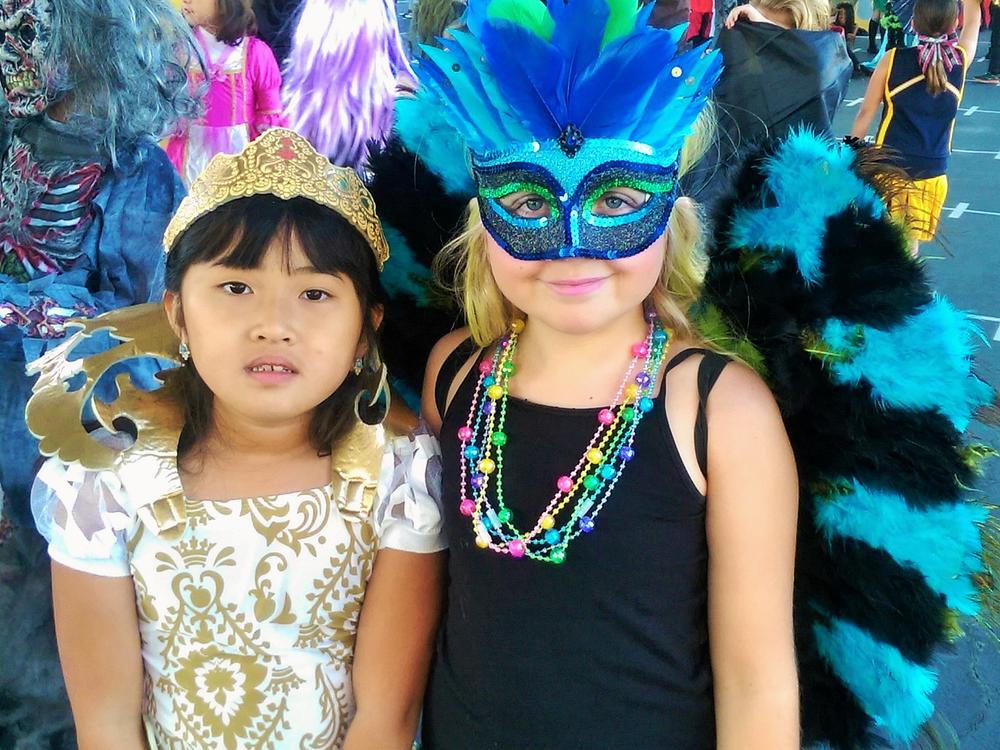 Students dressed to impress in their costumes at the annual JME Halloween  Costume Parade!