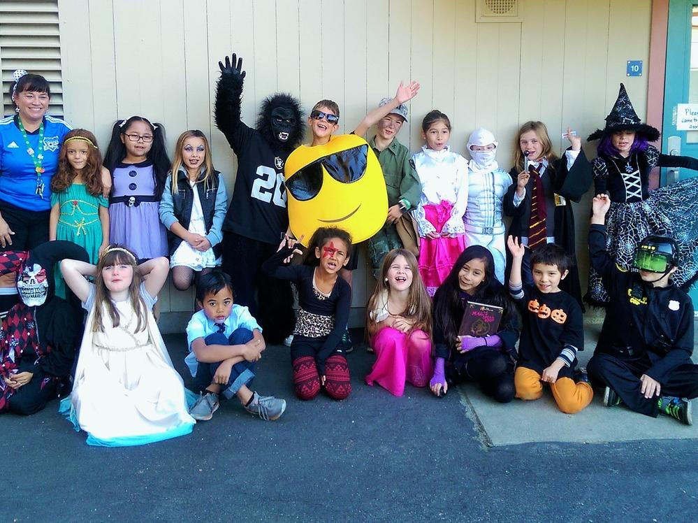 Halloween 2015: Mrs. Metcalf and her class is ready for a day full of tricks  and treats!