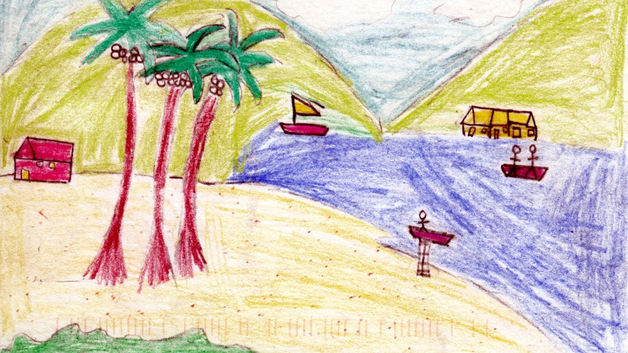 Postcards by students from St. Luke s Schools