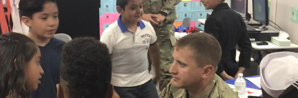 Lake Los Angeles Students host US Soldiers after Patriotic Performance