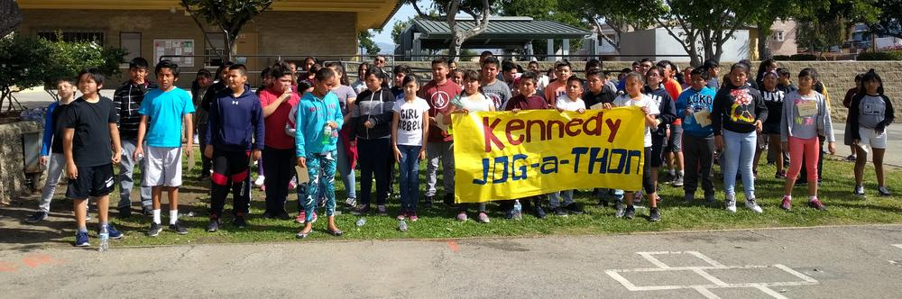 Thank you for supporting Kennedy s jog-a-thon!