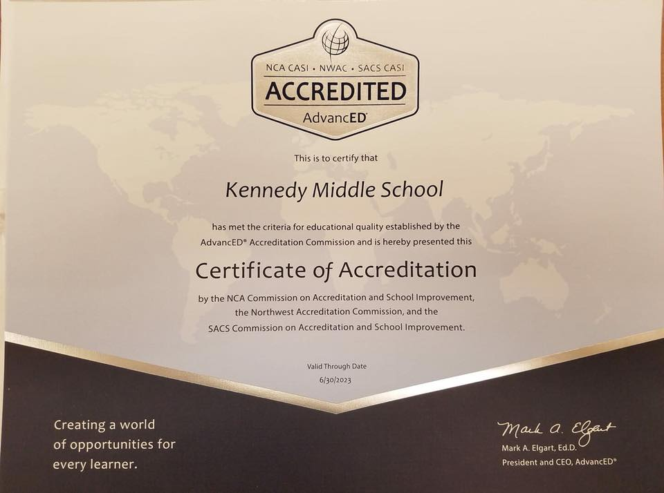 We are accredited