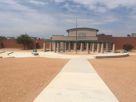 The Front of Kennedy Middle School
