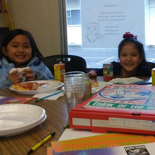 Kinder Pizza with the Principal