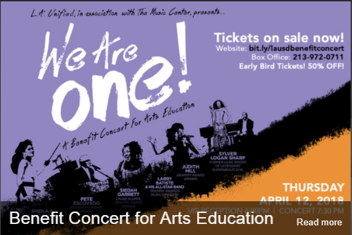 arts education concert on 4-12-18