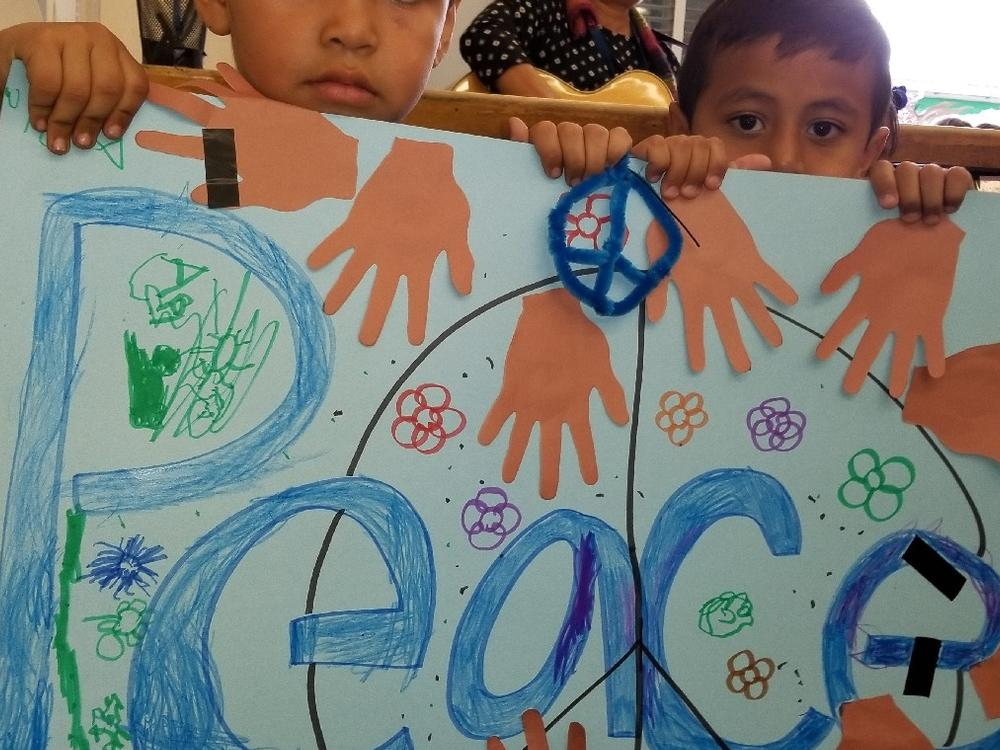 Our Pre-K Students held a March for Peace!