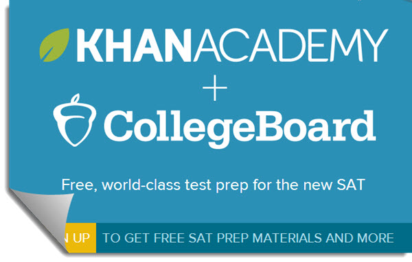 khan academy and college board flyer