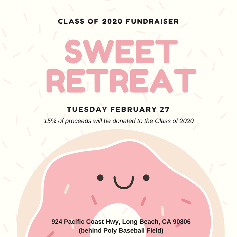 class of 2020 fundraiser flyer