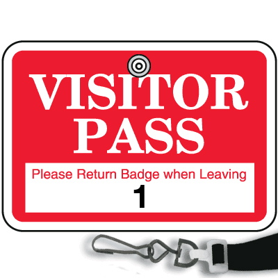 visitor ID badge icon
