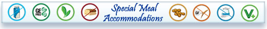 special meal accommodations icon