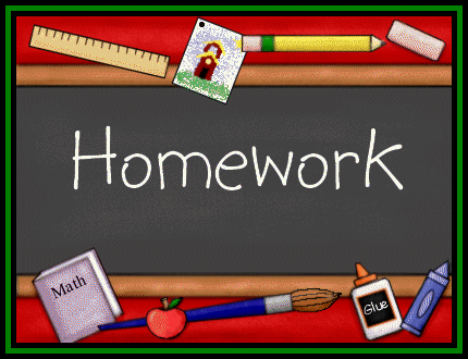 image of chalkboard with the word Homework