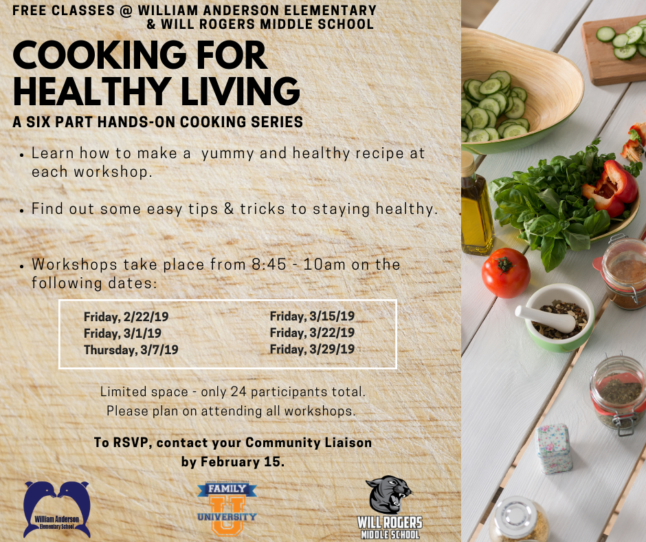 healthy cooking flyer
