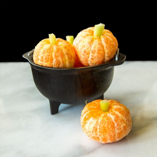 Mandarins as pumpkins
