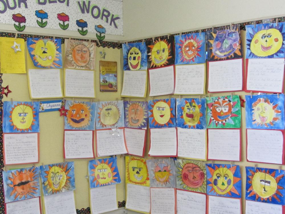 Student Art Work Faces
