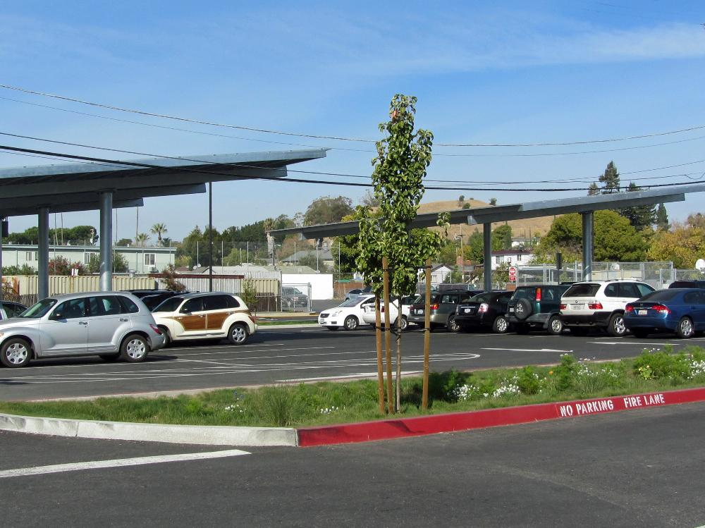 New Parking Area and Solar Panels