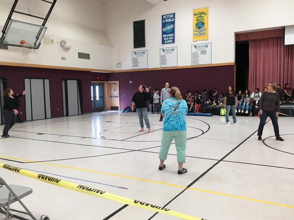Staff vs Student Volleyball Game March 2017