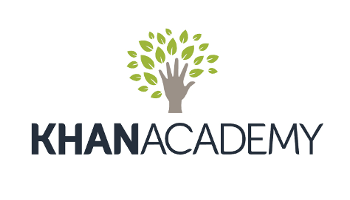 Khan academy logo used as a link to their site.